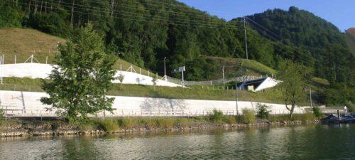 Trassee und Stützmauern Tunnel Zollhaus